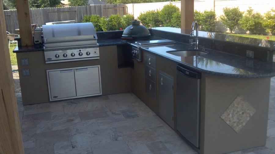 stucco outdoor kitchen photos