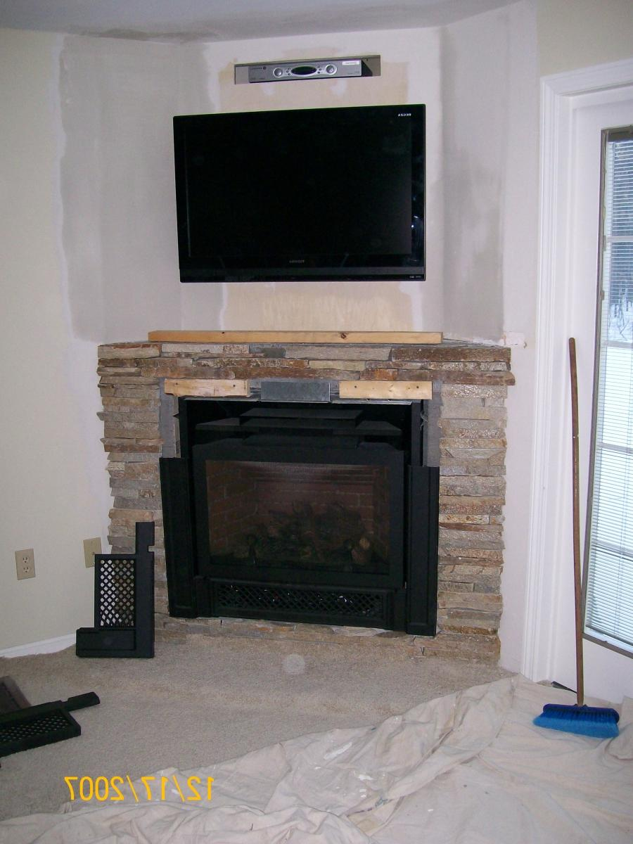 Corner Gas Fireplace With Tv Above 141 Home Design Ideas Source