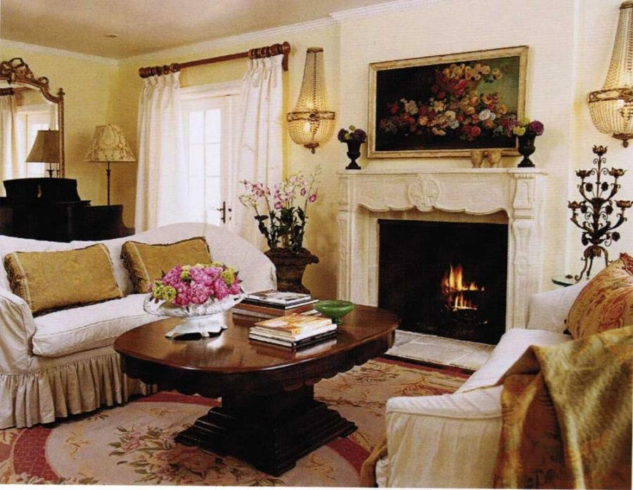 Photos of french country living rooms for Country french decorating ideas living room