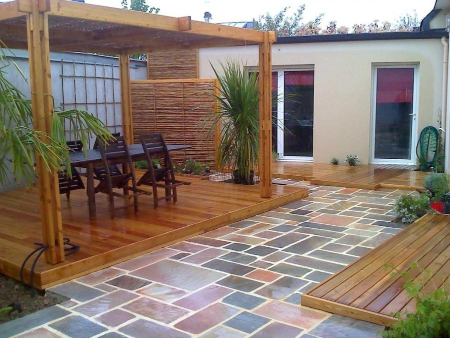 Photo decoration jardin terrasse for Idee jardin terrasse