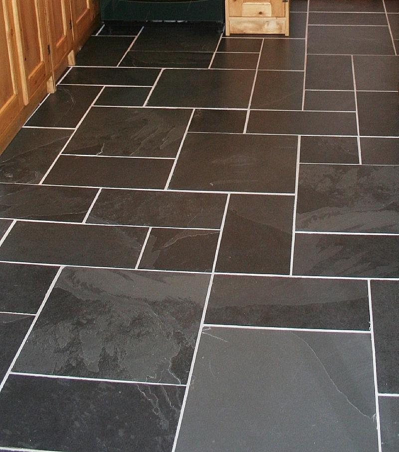 ... black riven random pattern brazillian slate flooring ...