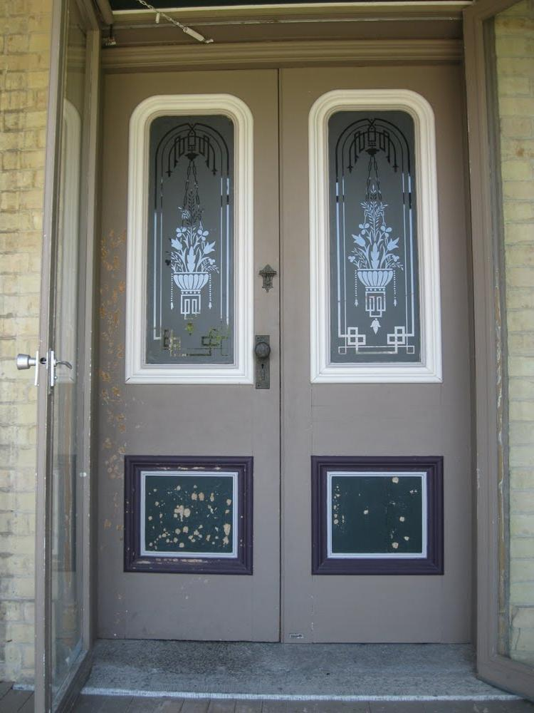 Photos of open front doors for Entry door with window that opens