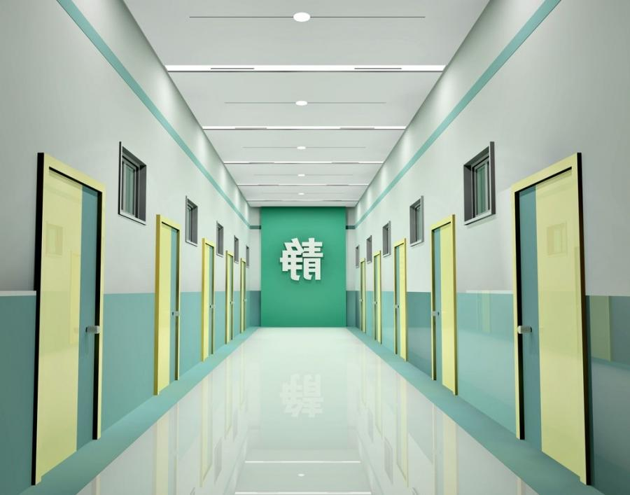 Hospital corridor 3d design u0026middot; Chinese hospital...