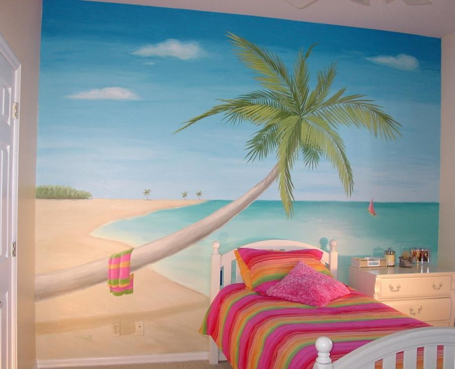 Beach photo wallpaper mural for Beach scene mural wallpaper