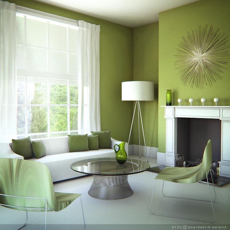 Green Living Room Photos