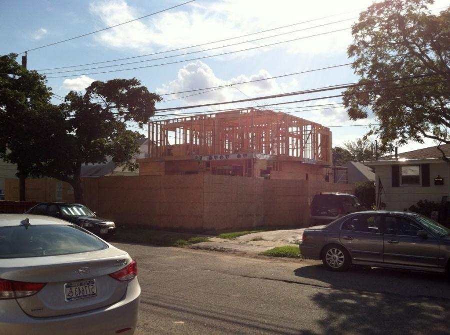 ... two-story house going up on Jerome Avenue in South Beach, in...