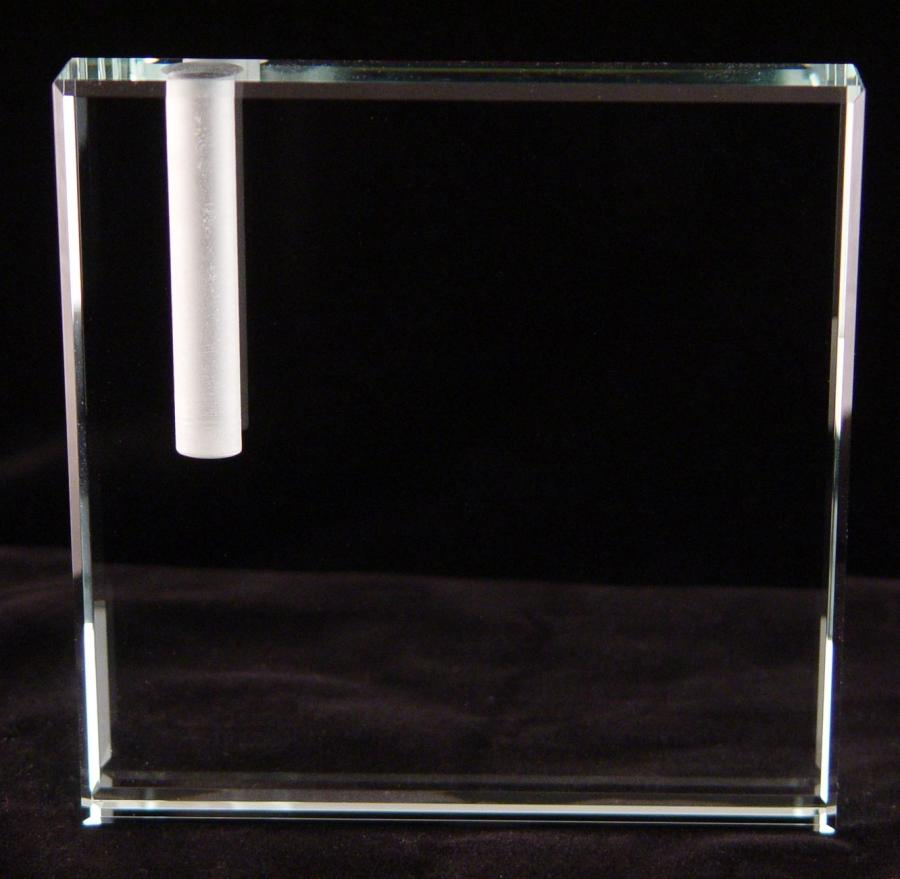 Glass block photo frame vase for Glass block window frame