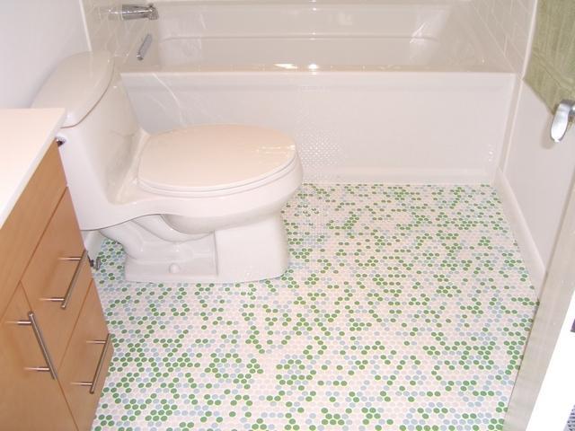 Penny Round Tile Bathroom Photos