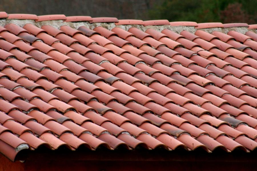 Photo clay tile for Metal roof that looks like spanish tile