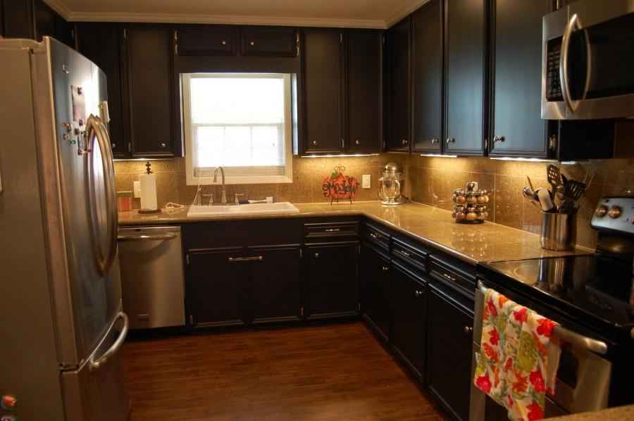 Kitchen Kitchen Idea Black Cabinets Picture Kitchen Idea Black...