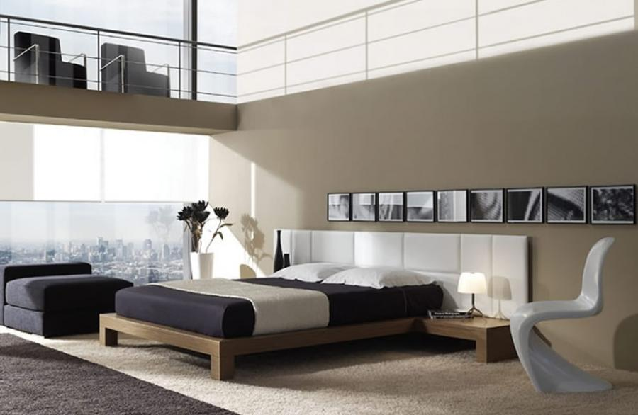 Photo decoration moderne maison for Chambre a coucher moderne