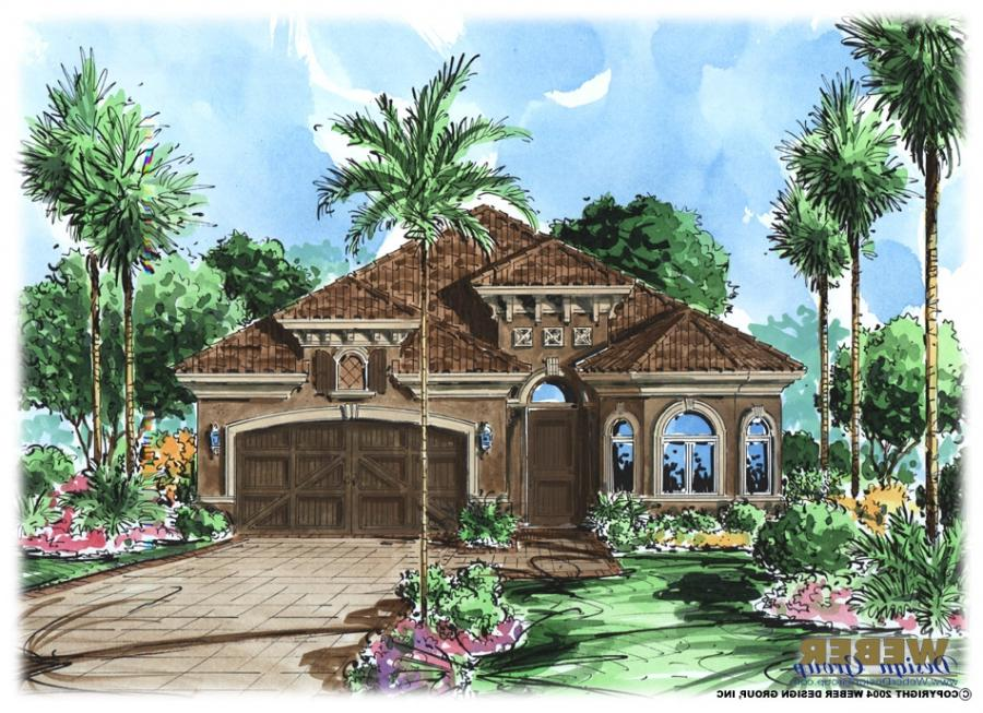 Waterfront house plans with photos for Waterfront narrow lot house plans