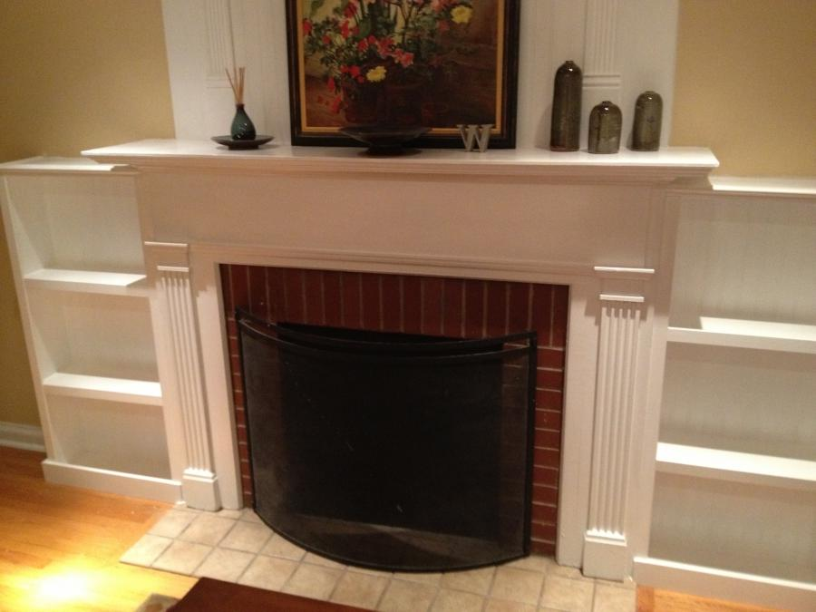 Photos built bookcases fireplace