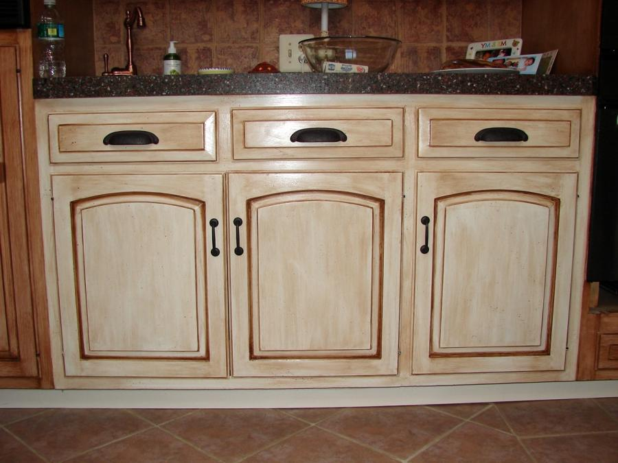 how to distress kitchen cabinets