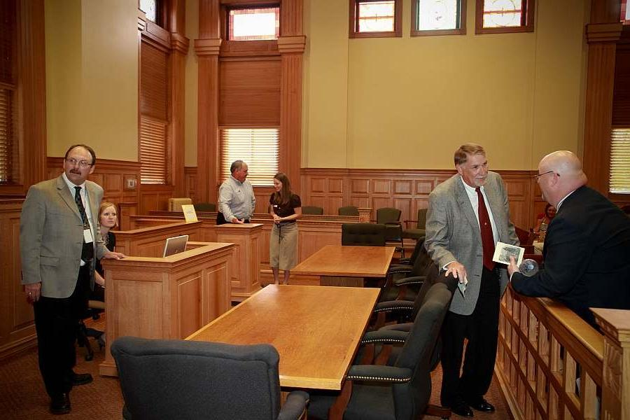 Courtroom Dedication, June 4, 2010. West wall in the background.