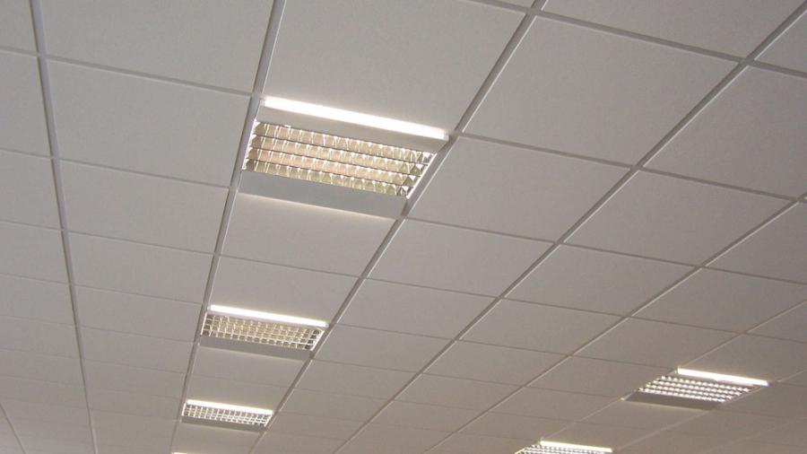 Suspended Ceiling with 600x600 Tegular Tiles
