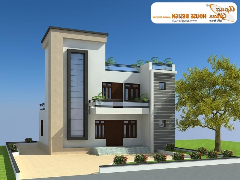 Front elevation of duplex house in india photos for Duplex house front elevation pictures