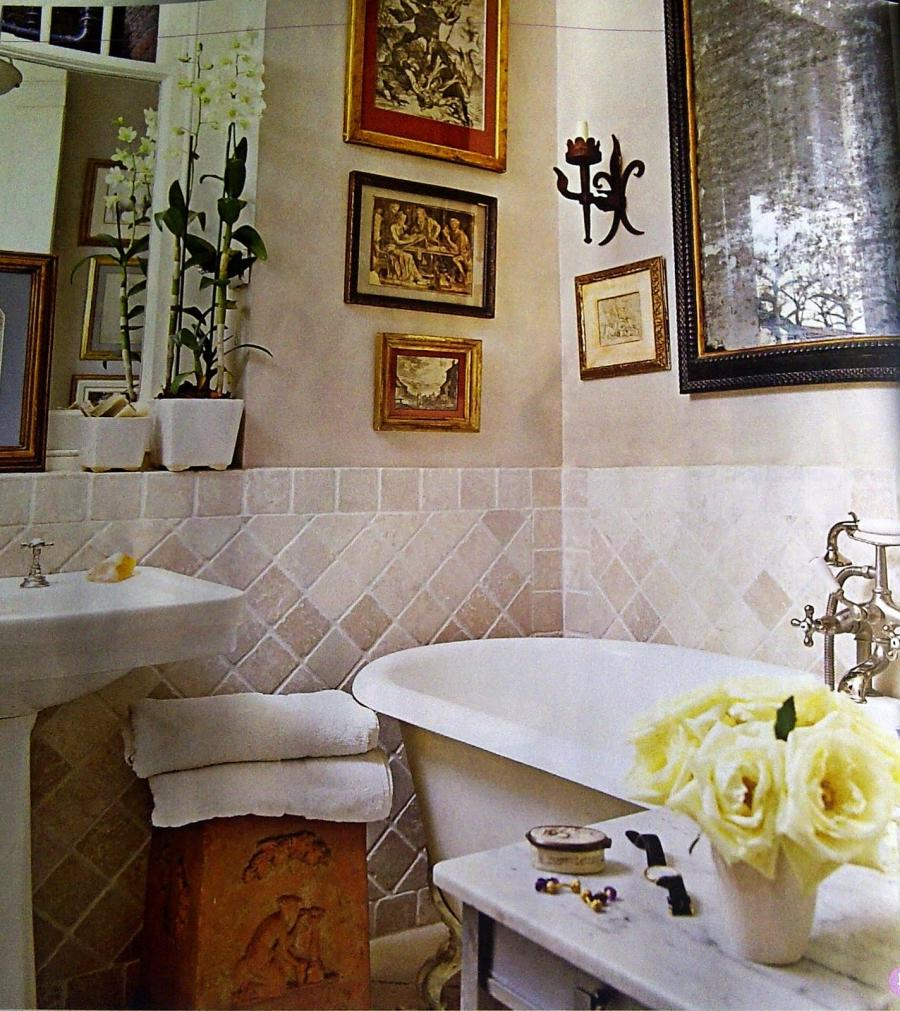 French country bathroom