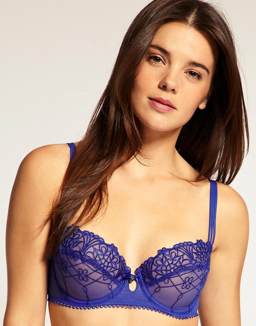 Balcony bra by Passionata. Featuringembroidered mesh underwired...