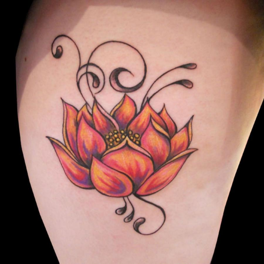 Lotus Flower Tattoo Photo