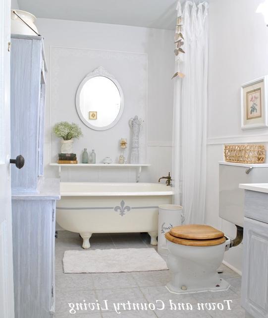 Country living bathroom photos