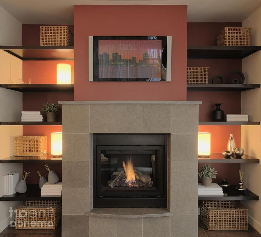 s of flat screen tv over a fireplace