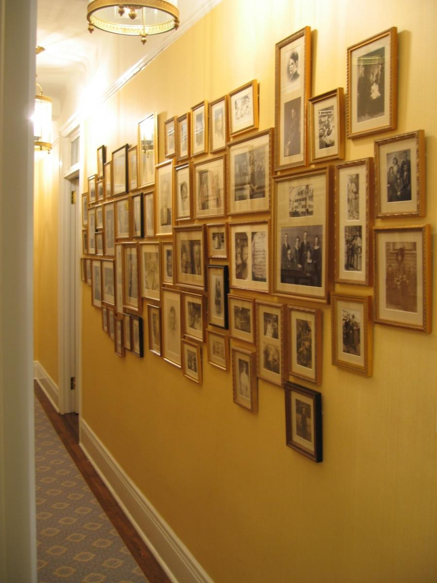 wall decor ideas for hallways - family photo wall 2