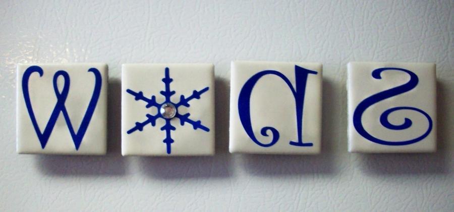 Ceramic Tile Photo Magnets - Ceramic tile scraps