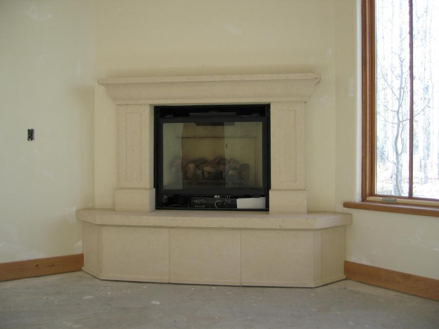 Custom-Corner Fireplace Mantels and Surrounds in Denver Colorado