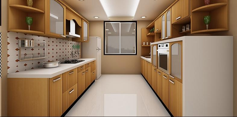 Parallel kitchen designs photos for Parallel kitchen ideas