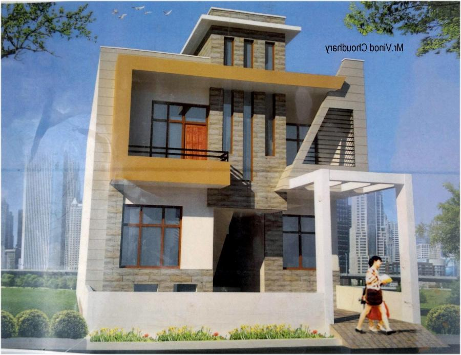 Modern Single Family Front-House-Elevation Design
