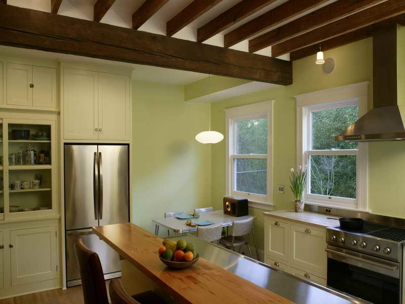 ... Stylish Kitchen Exposed Beam Ceiling ...