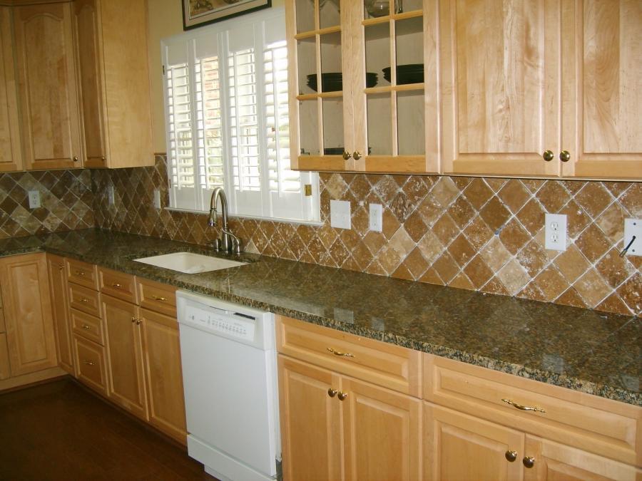 Tumbled Marble Tile Backsplash Photos