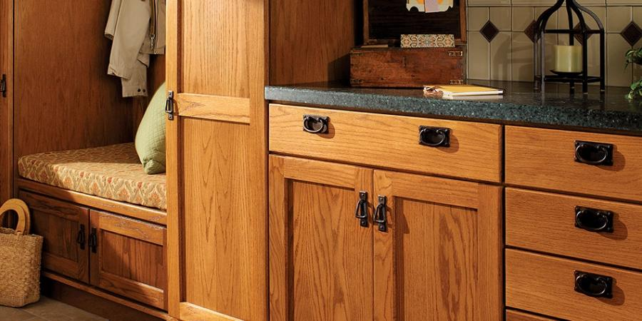 CABINET STYLE | Hancock Oak harvest finish by Quality Cabinets