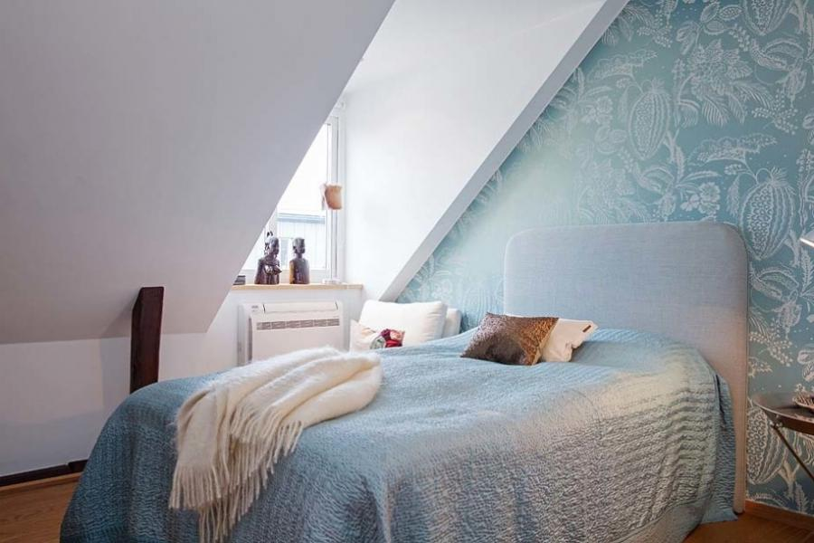 ... Inspirations Attic Bedrooom Design Ideas Natural Turquoise...