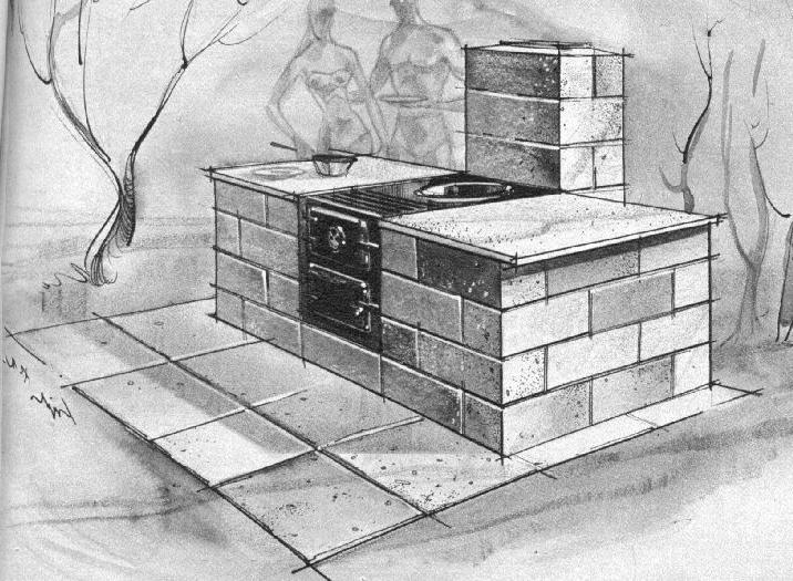 Build Your Own Shed >> Building a brick barbecue photos
