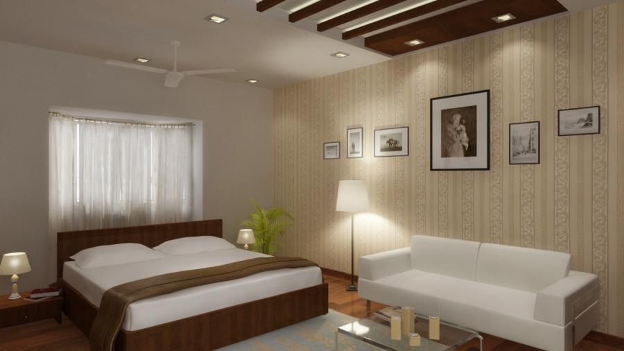 The Master Bedroom interiors for Mr.J Jayakrishnan at...