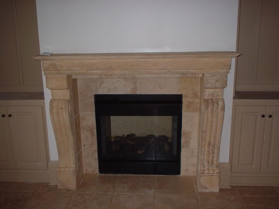 Tile fireplace designs photos for New construction fireplace