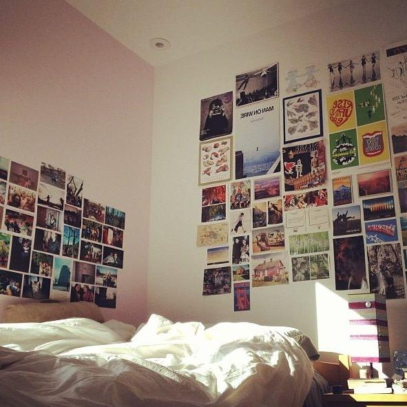 bedroom wall collage photos