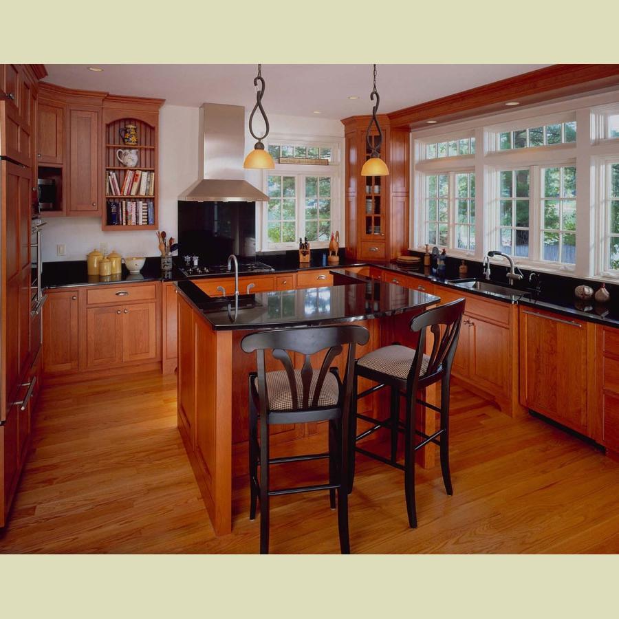 Shaker cherry kitchen cabinets photos
