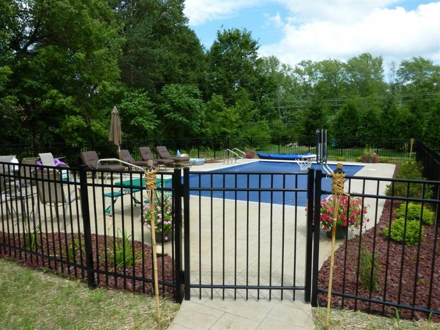 Inground pool fence photos - Swimming pool fencing options consider ...