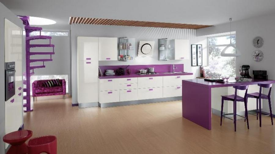 Interior Design, Purple Kitchen Design Ideas: Contemporary...