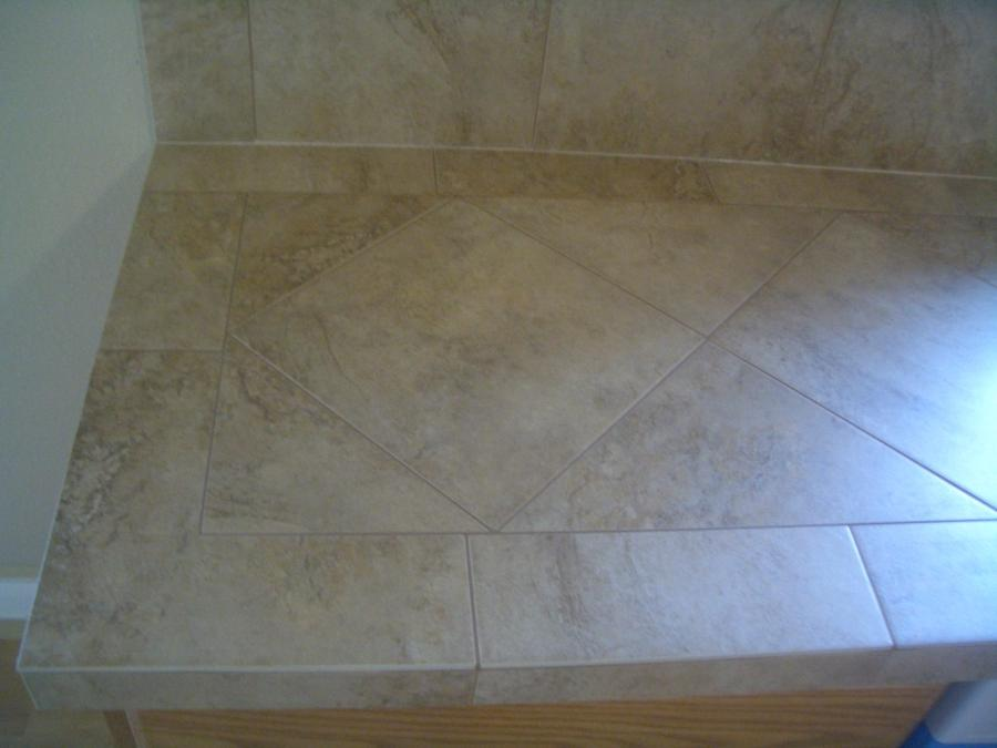 Ceramic countertop tile
