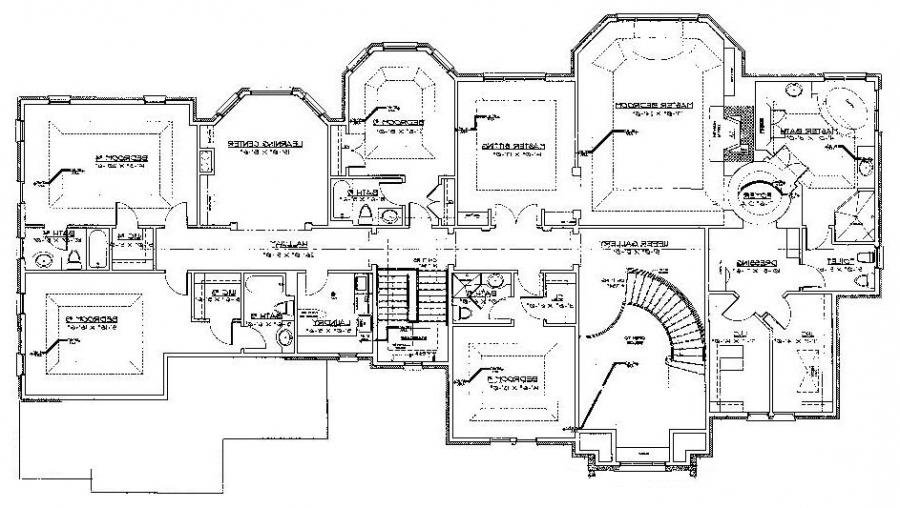 Custom home floor plans photos for Custom estate home plans