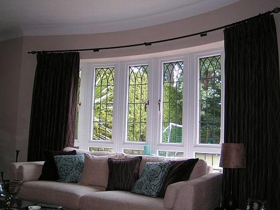 Photos Of Curtains On Bay Windows