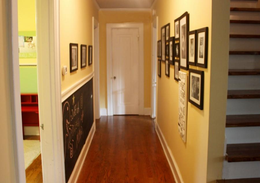 Multifunctional Cool Hallway Decor Idea With Fantastic Wall...
