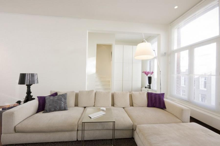 Sharp Natural Shade Of White Delightful Aparment Interior Design...