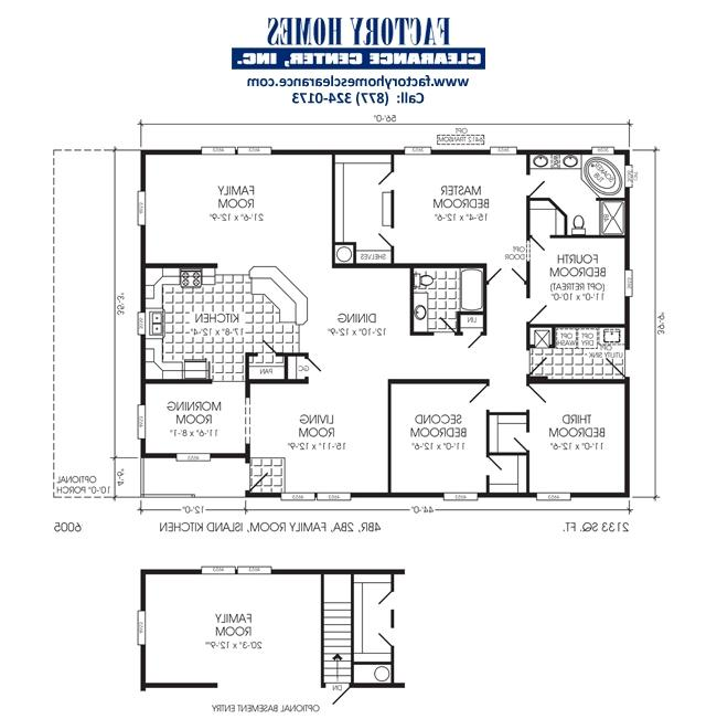 Triple wide floor plans photos - 4 bedroom double wide mobile homes ...