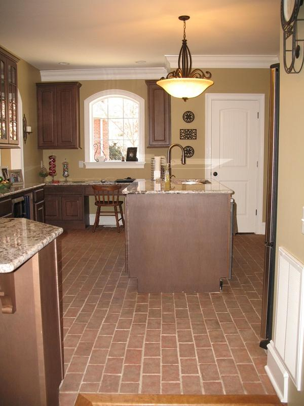 This kitchen floor will always look wonderful and hold up to the...