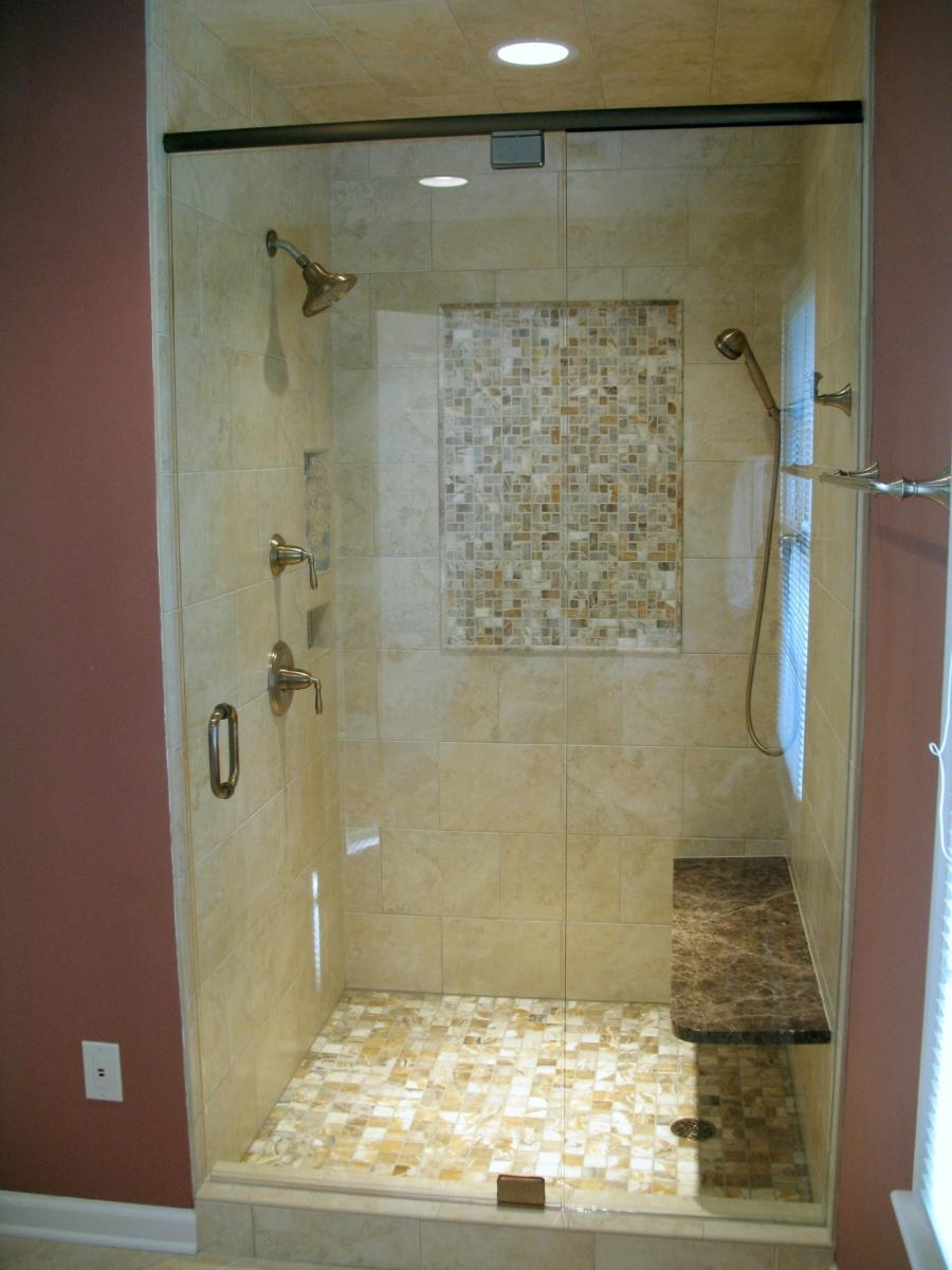 Bathroom shower tile design ideas photos for Cool shower door ideas